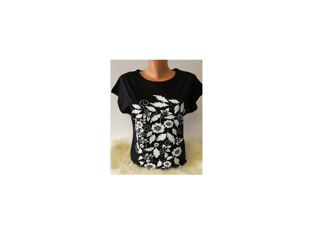 tričko květy