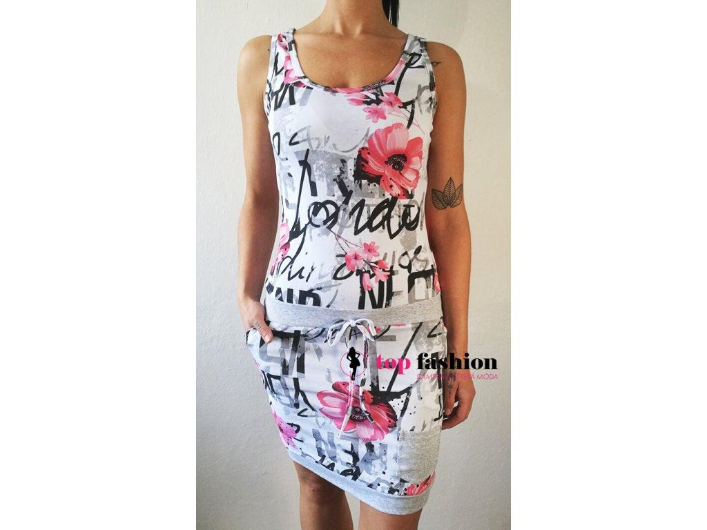 šaty york na ramínka růžové