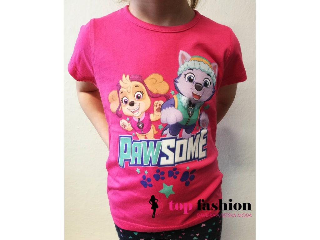 Tričko Tlapková patrola - růžové