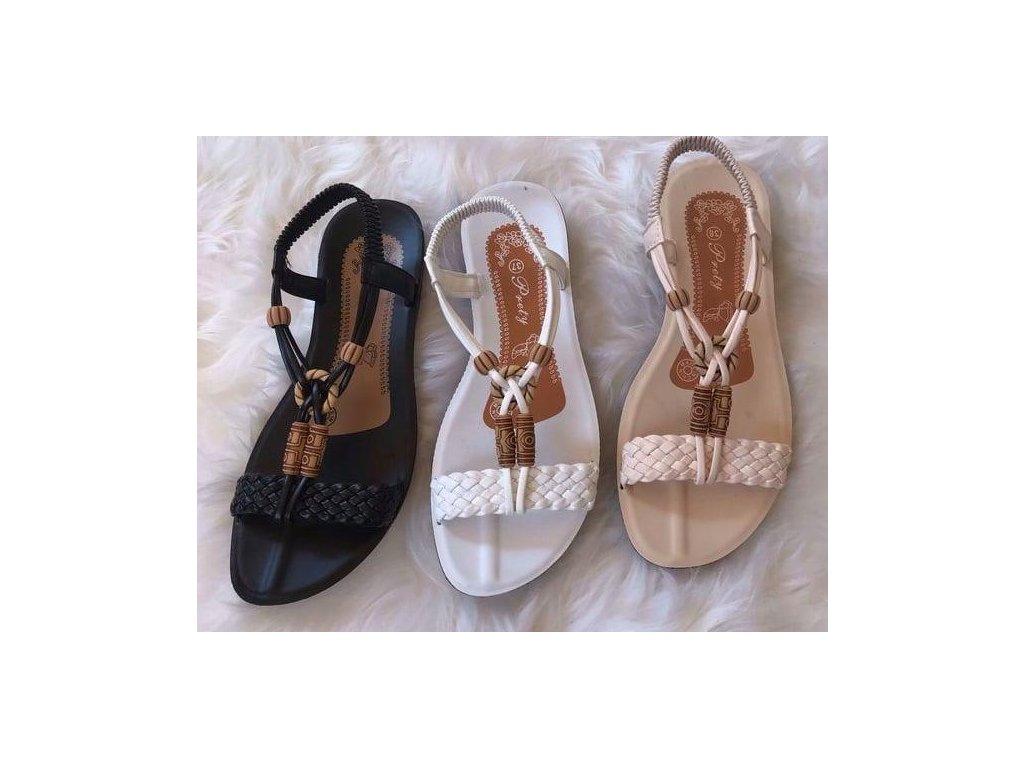Sandálky s korálkami