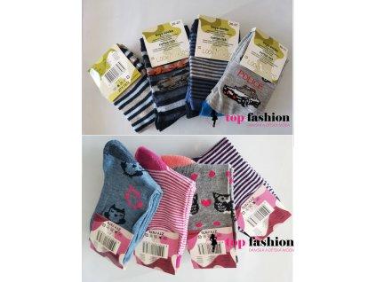 Dětské ponožky 4 kusy v balení