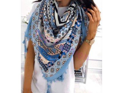 šátek modrý