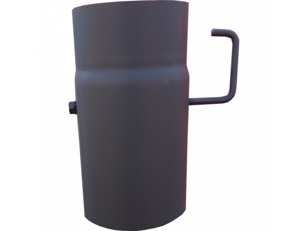 Roura s klapkou, dl.250mm, prům.150, ČERNÁ