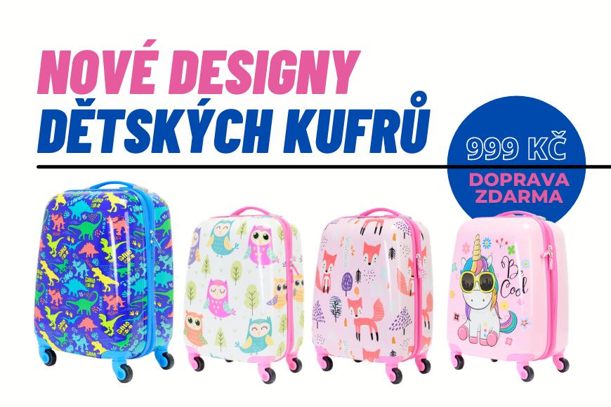 Dětské kufry - BESTSELLERY V NOVÝCH BARVÁCH!