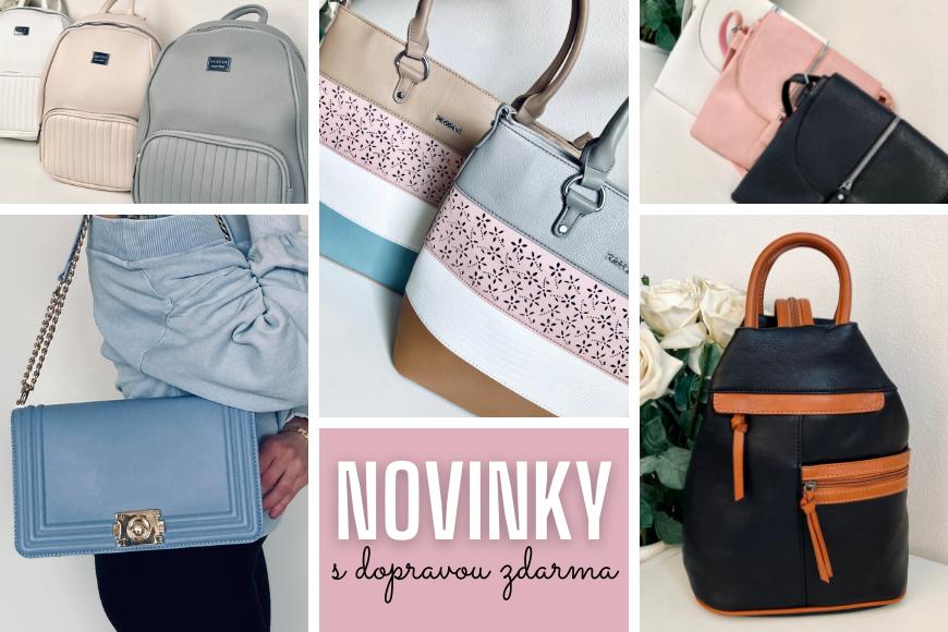 Nové kabelky a batohy právě teď online!