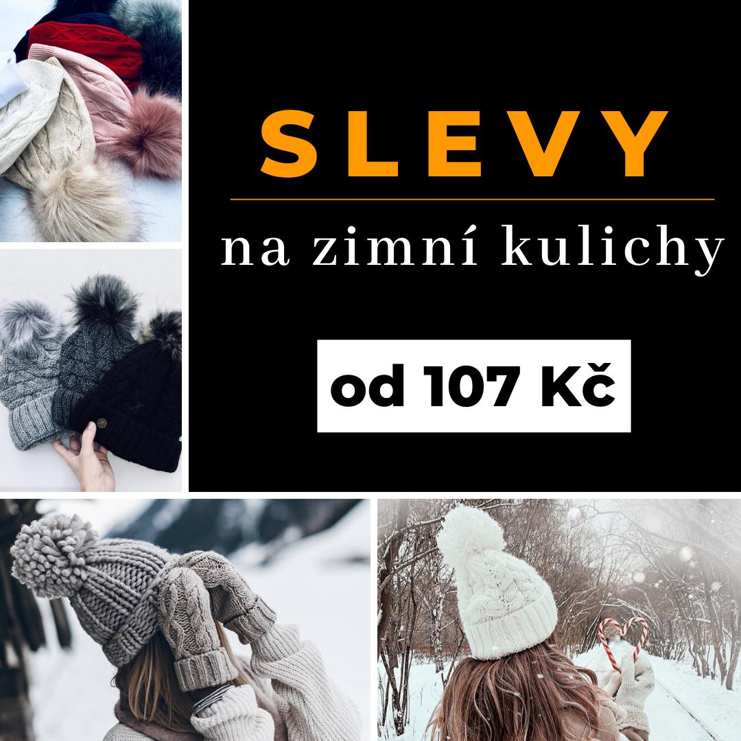Zlevněné zimní čepice