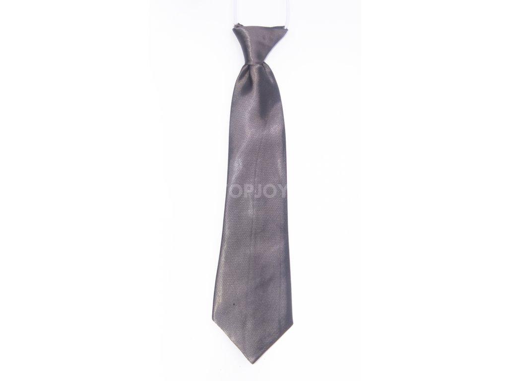 Šedá dětská kravata na gumičku DKR1-6