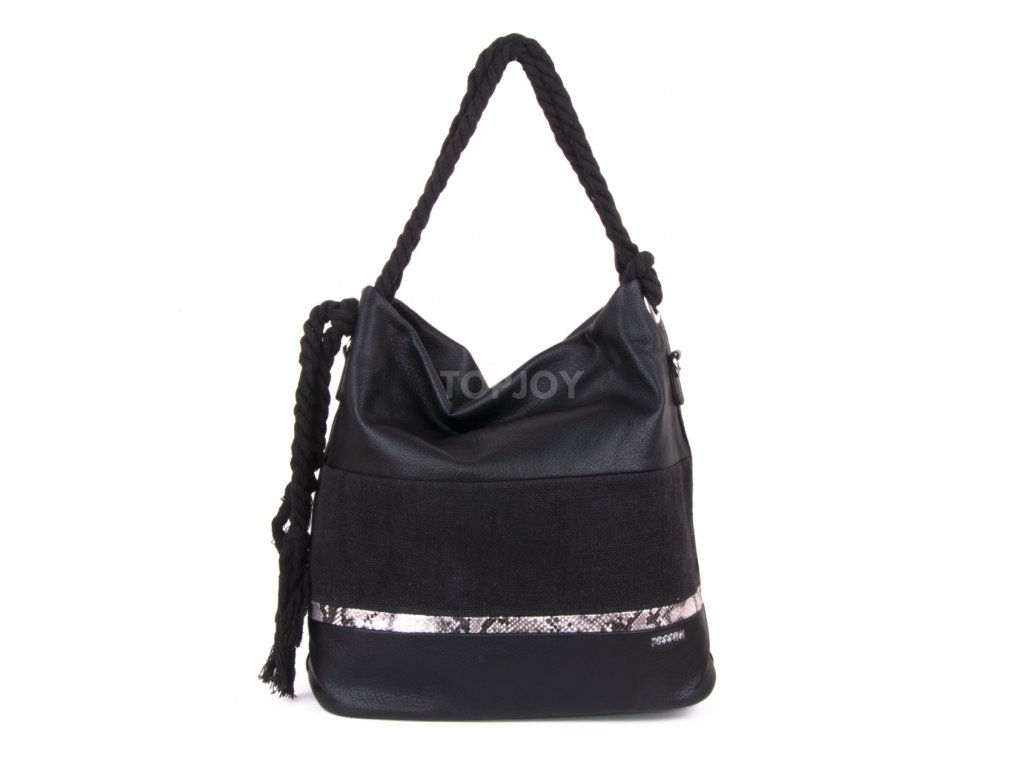 dámská černá kabelka s hadím vzorem 4543 (2)