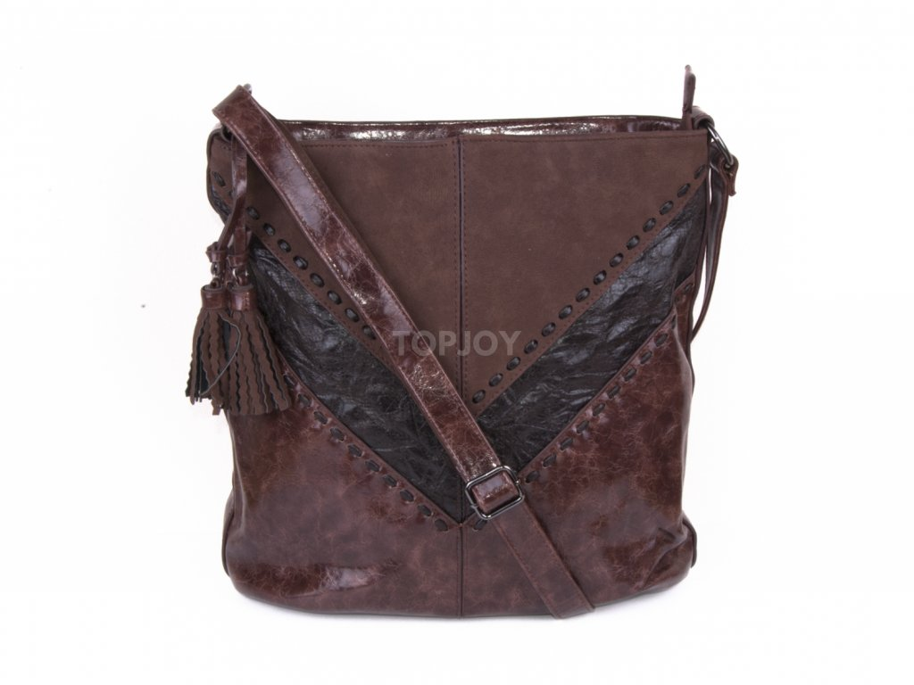 lakovaná dámská boho kabelka přes rameno 5126 (6)