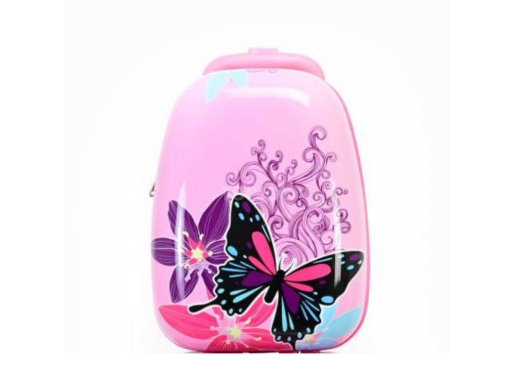 Dětský ABS cestovní batoh ke kufru 140341 motýlci