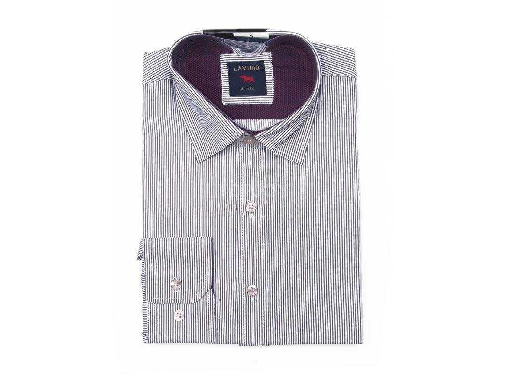 pánská košile s proužkem dlouhým rukávem TS65 (1)