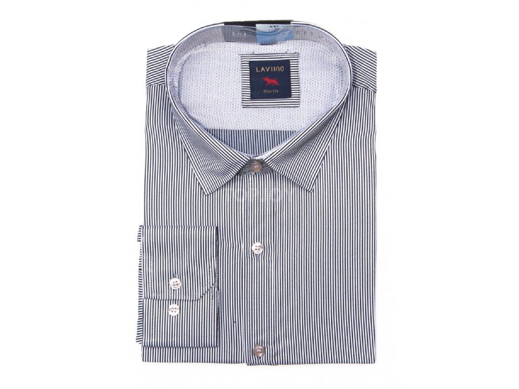 pánská košile s proužkem dlouhým rukávem TS65 (3)
