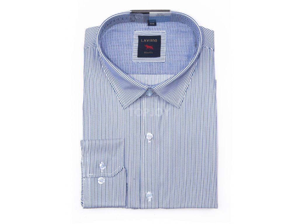 pánská košile s proužkem dlouhým rukávem TS65 (5)