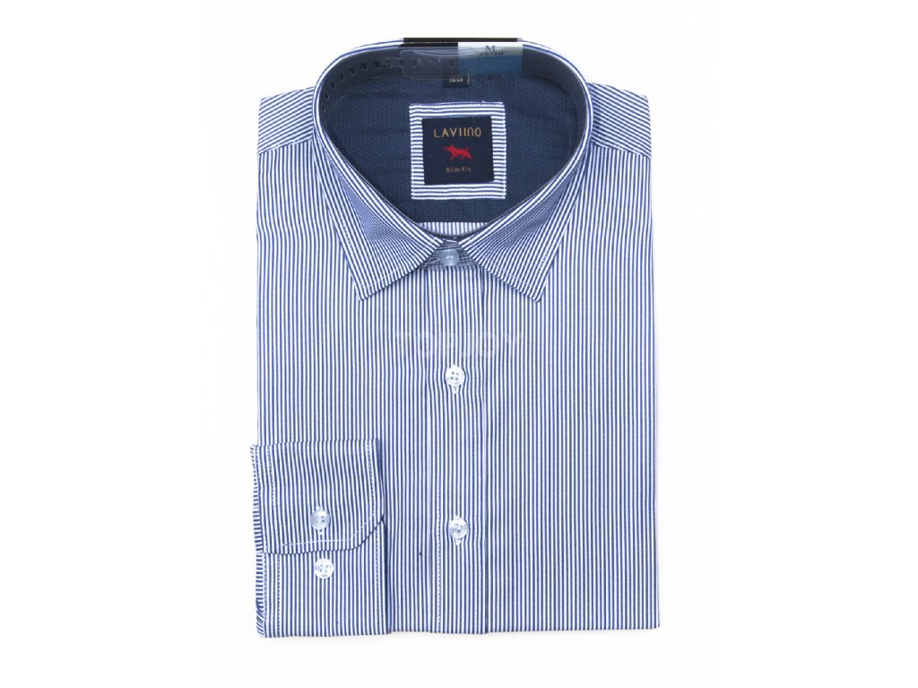 pánská košile s proužkem dlouhým rukávem TS65 (7)