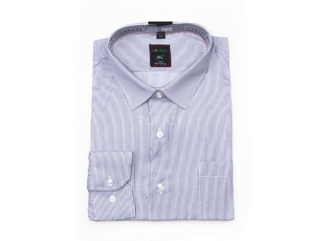 pánská košile s dlouhým rukávem proužkem ndt4 (1)