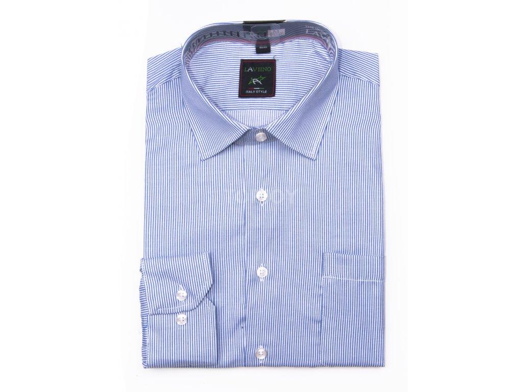 pánská košile s dlouhým rukávem proužkem ndt4 (2)