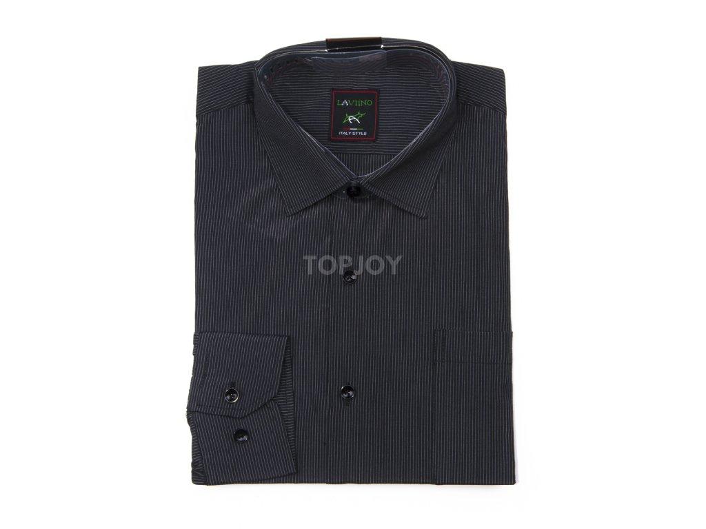 pánská proužkovaná košile s dlouhým rukávem ndt2 (2)