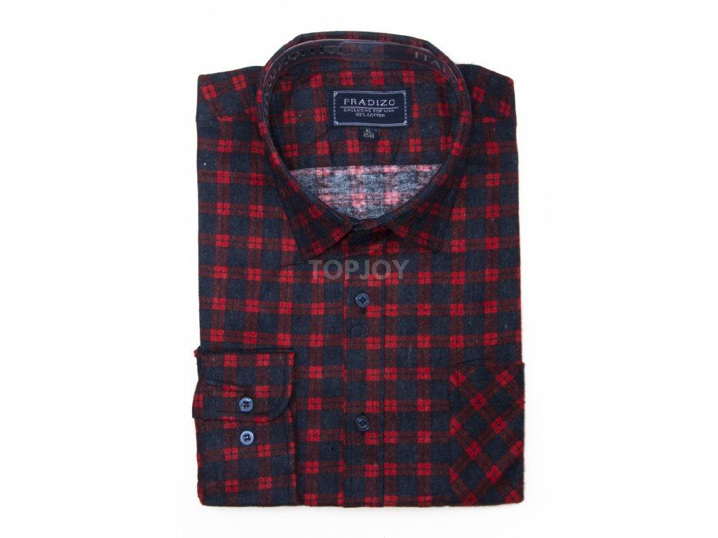 pánská kostkovaná košile flanelová F12 (1)