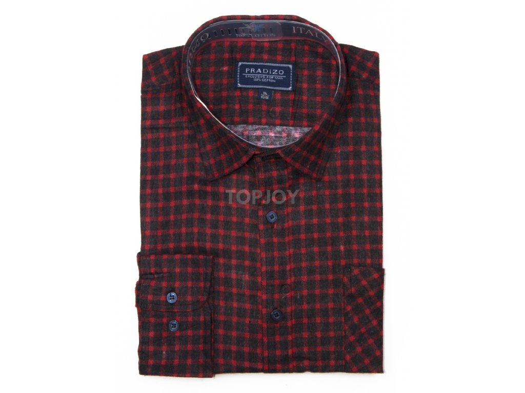 pánská kostkovaná košile flanelová F12 (3)