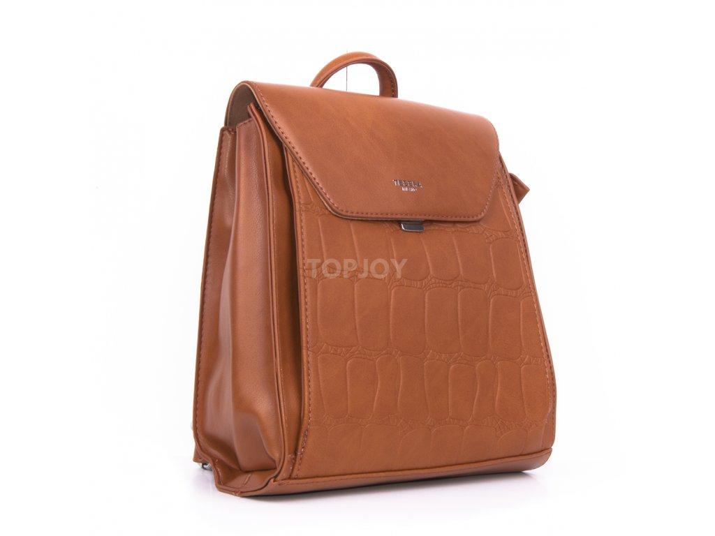 elegantní městský batoh v hnědé barvě 5060 (2)