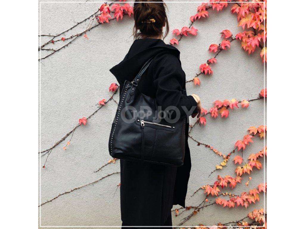 Dámská kabelka se cvočky 5112 černá
