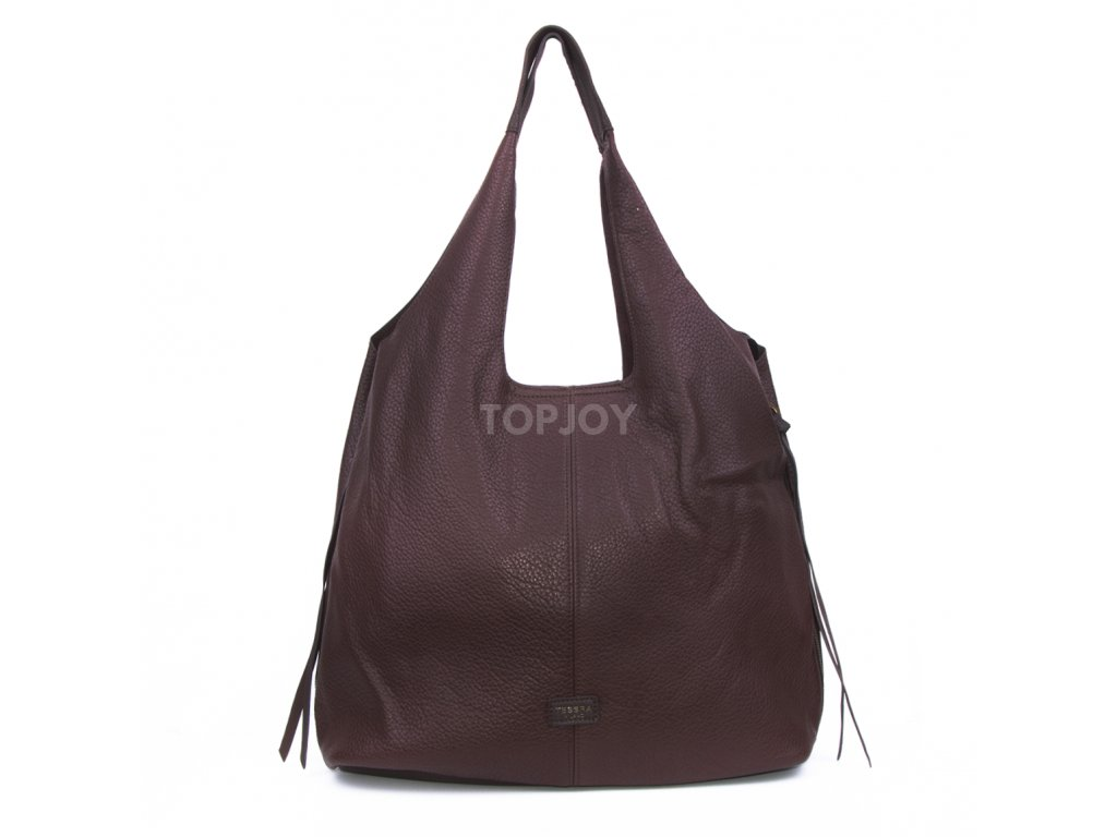 jednobarevná dámská kabelka na rameno pytel 5064 (6)