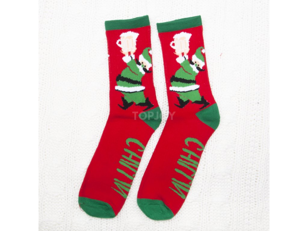 Pánské vánoční thermo ponožky 6730 SANTA&PIVO