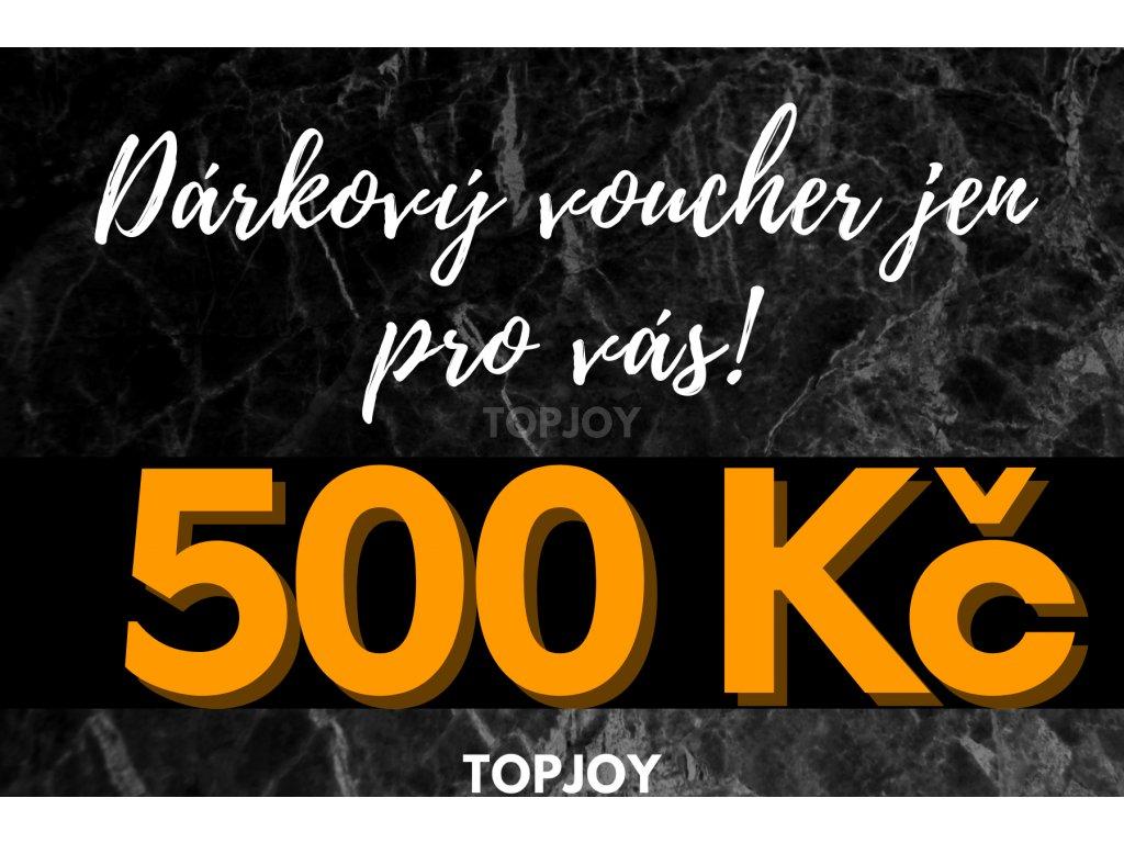 Dárkový voucher v hodnotě 500 Kč TMAVÁ VARIANTA