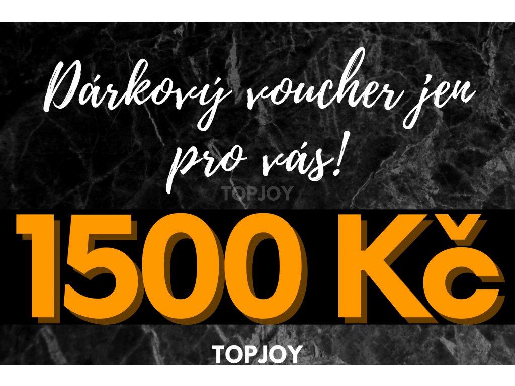 Dárkový voucher v hodnotě 1500 Kč TMAVÁ VARIANTA
