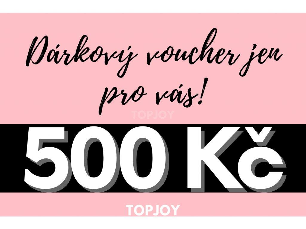 Dárkový voucher v hodnotě 500 Kč RŮŽOVÁ VARIANTA