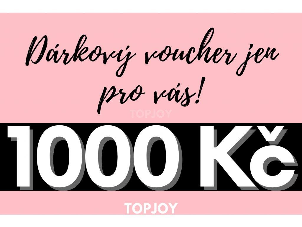 Dárkový voucher v hodnotě 1000 Kč RŮŽOVÁ VARIANTA