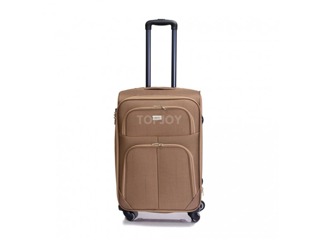 Cestovní kufr C-214 béžový M