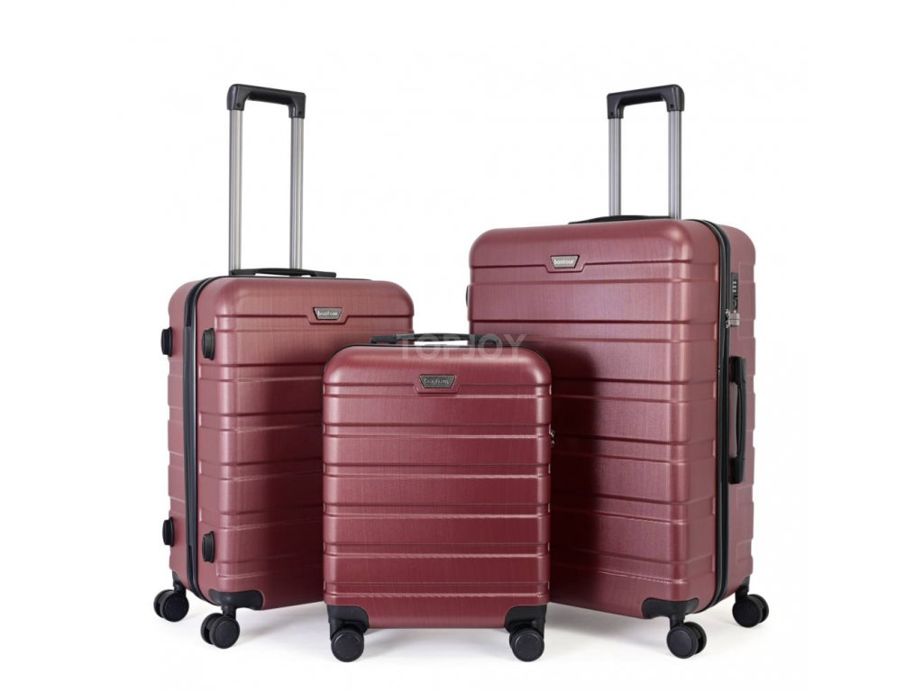 Skořepinový premium kufr s TSA zámkem 150140 burgundy S