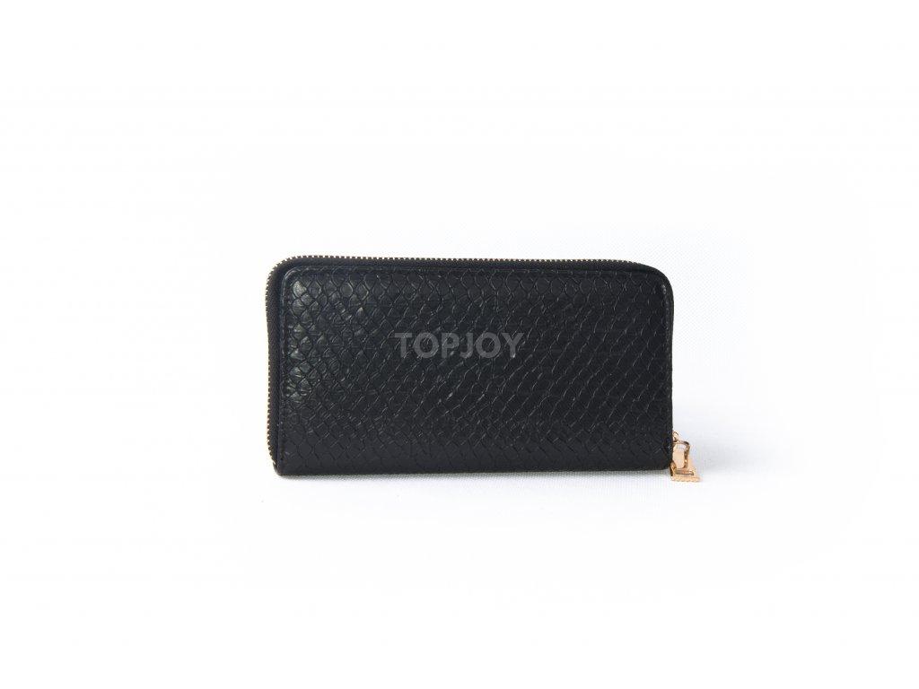 Dámská peněženka s hadím vzorem XD9818 černá