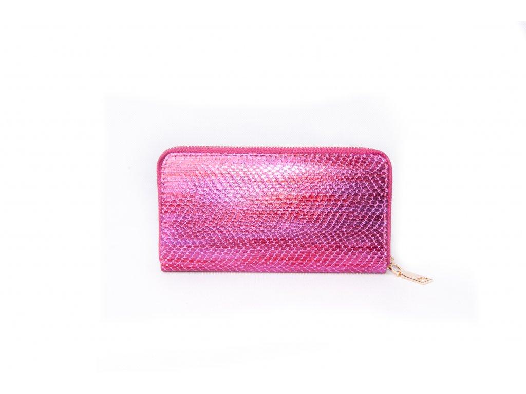 Dámská peněženka s hadím vzorem XD9818 fuchsiová