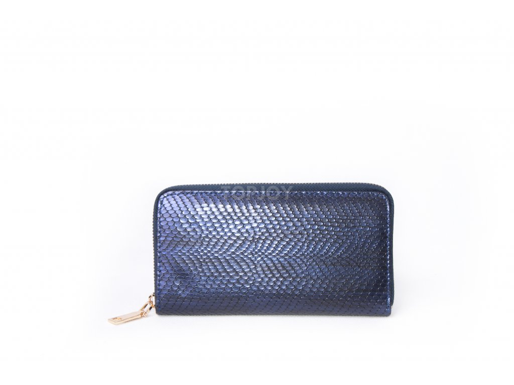 Dámská peněženka s hadím vzorem XD9818 tmavě modrá