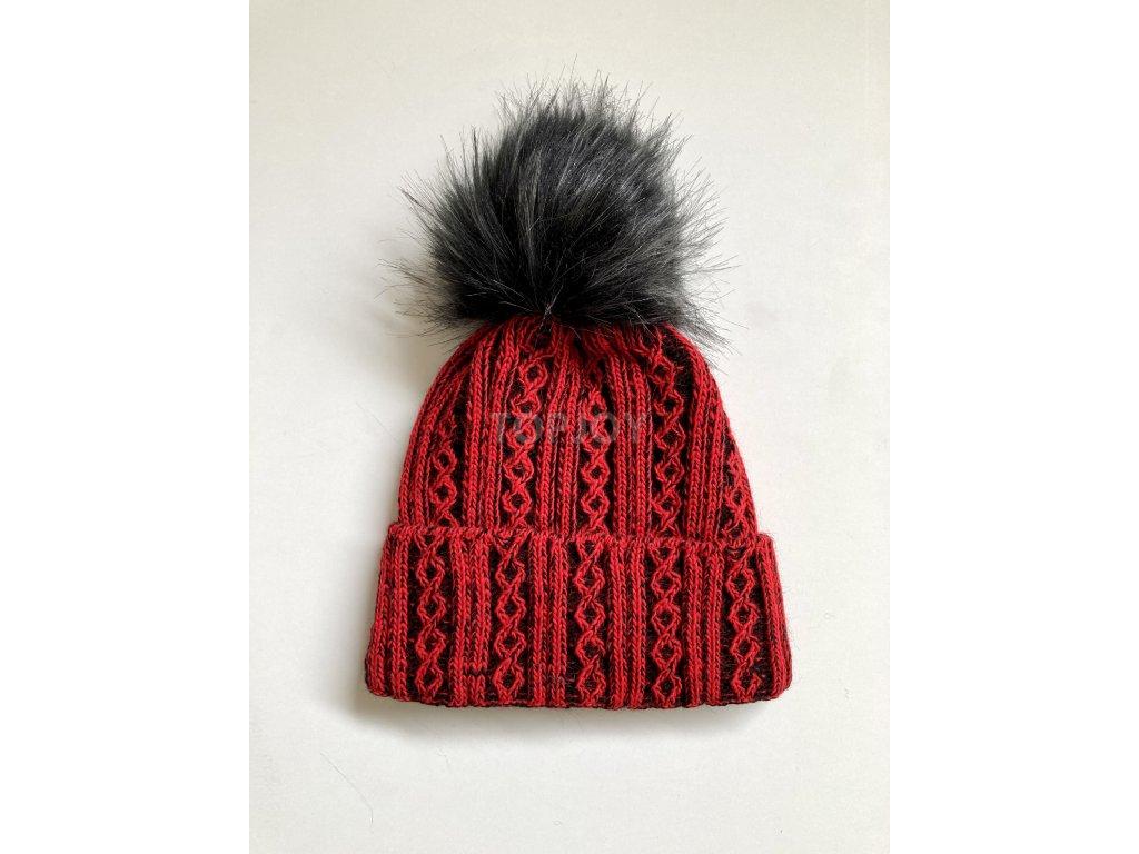 dámská zimní čepice kulich (39)