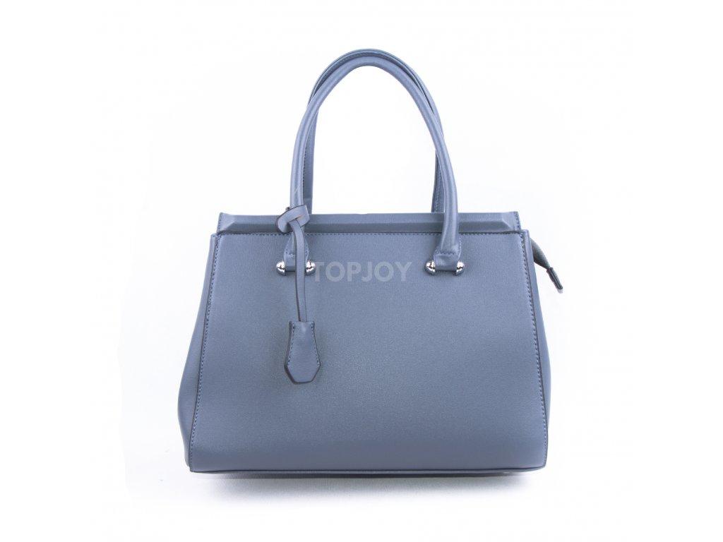 Originální dámská kabelka válcovitého tvaru 18330 šedomodrá