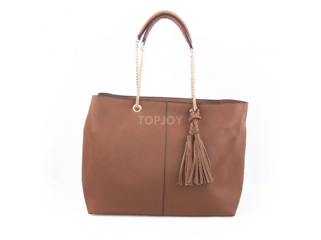 Nadčasová dámská kabelka s řetízkovým uchem bv18260 hnědá