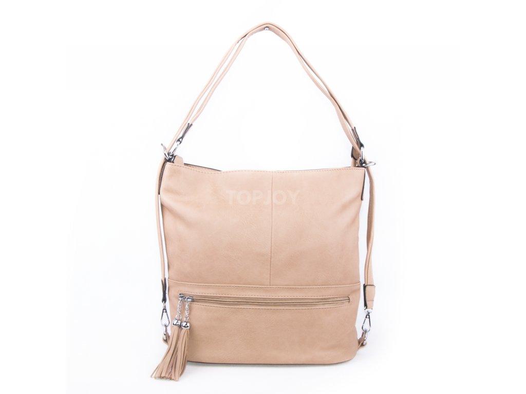dámská béžová kabelka na rameno 2193 apricot (1)