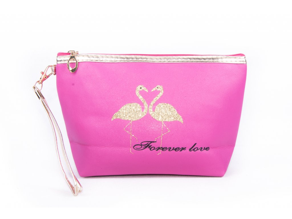 dámská kosmetická taška 11532 1 3 tmavě růžová (1)