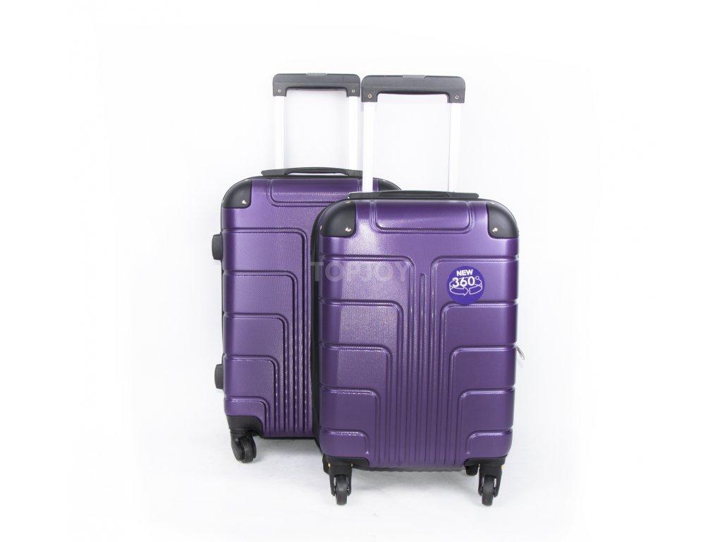palubní kufr skořepinový fialový (1)