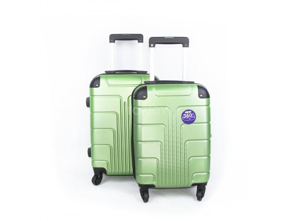 palubní kufr skořepinový zelený (1)