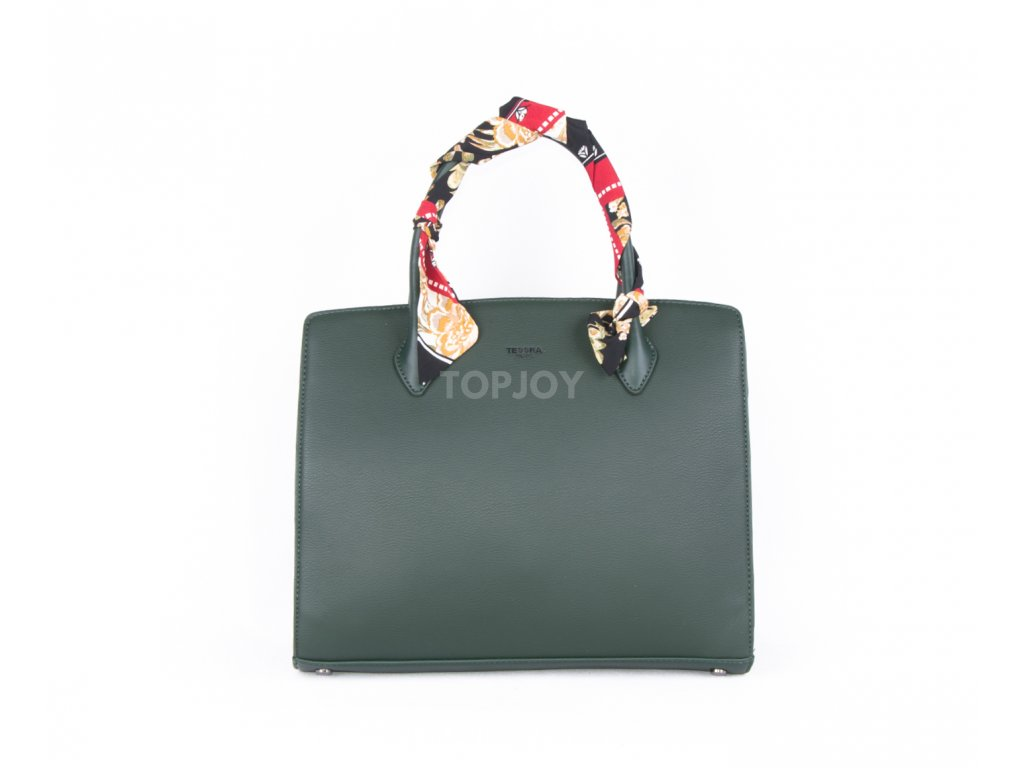 Elegantní kabelka s šátkem 4936 zelená