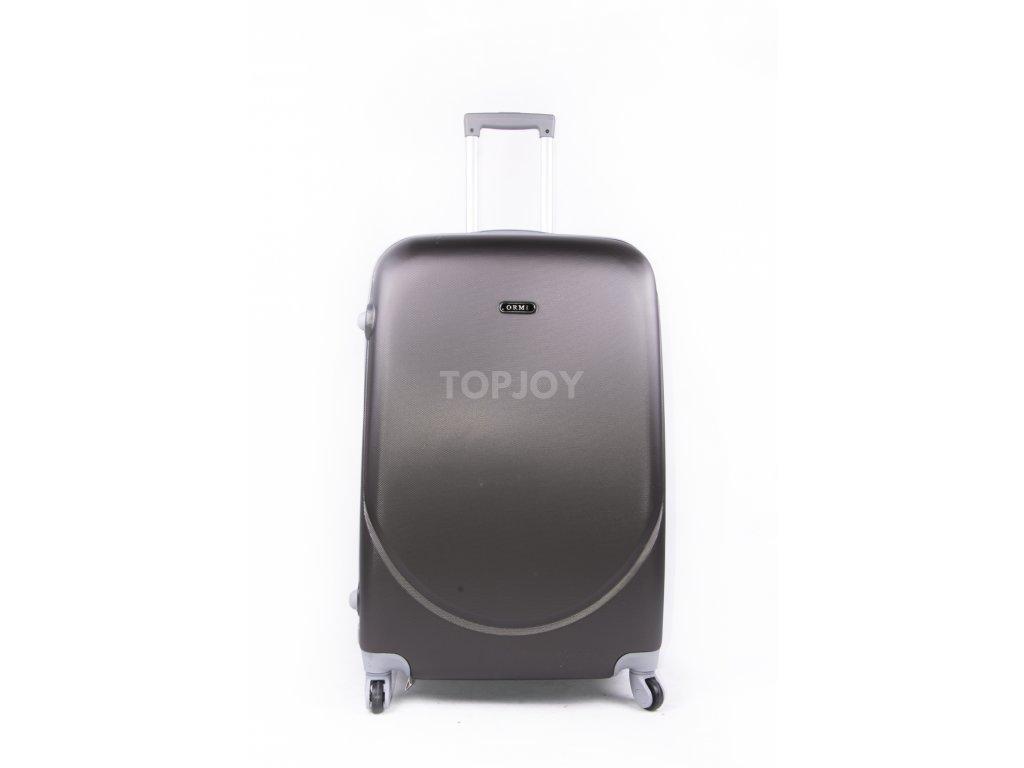 cestovní kufr plastový skořepinový tmavě šedý (1)