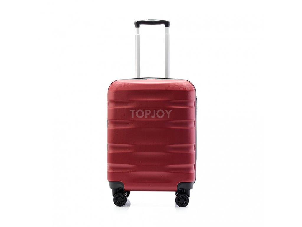 palubní kufr skořepinový 120541 bordo vínový červený (2)