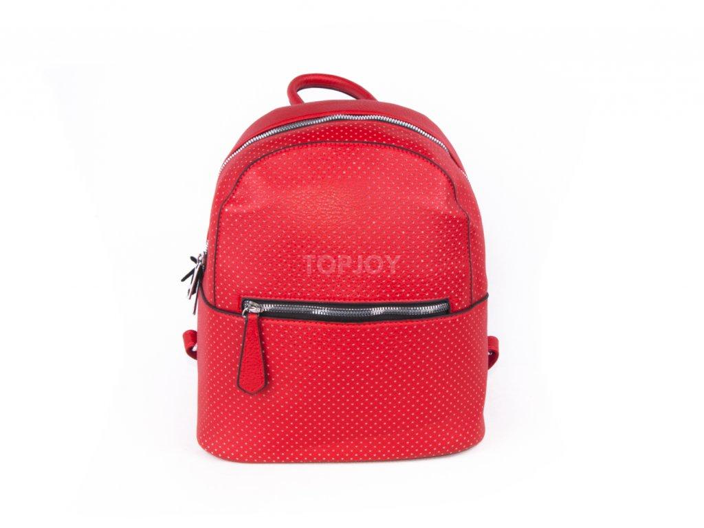 červený dámský batoh 4252 (2)