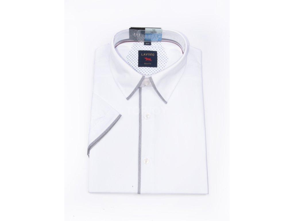 pánská košile krátký rukáv TSMK 13F slim fit