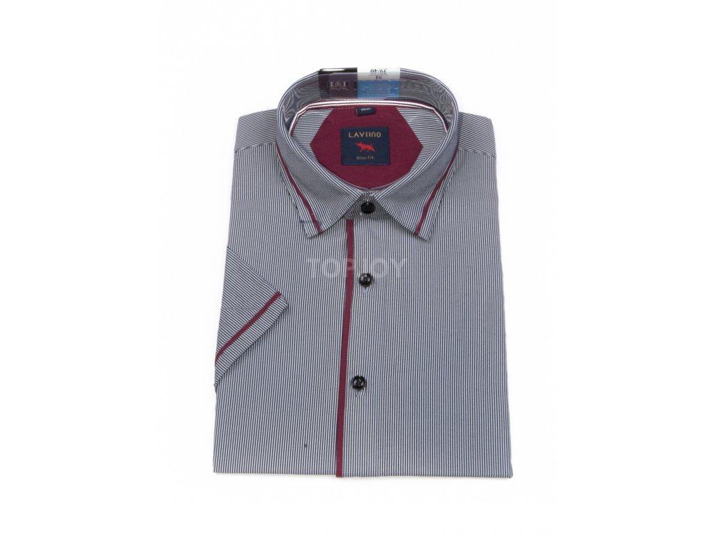 pánská košile krátký rukáv TSK53 1 slimfit (1)