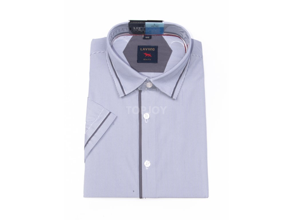 pánská košile krátký rukáv TSK53 2 slimfit (1)